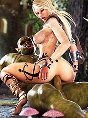Ugly orc penetrates her tight twat - Frazeta the destroyer  by 3D Collection